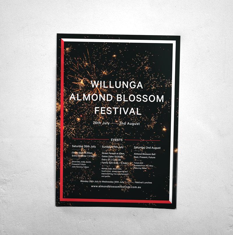 Draw Studio Willunga Almond Blossom Festival Graphic Design Poster